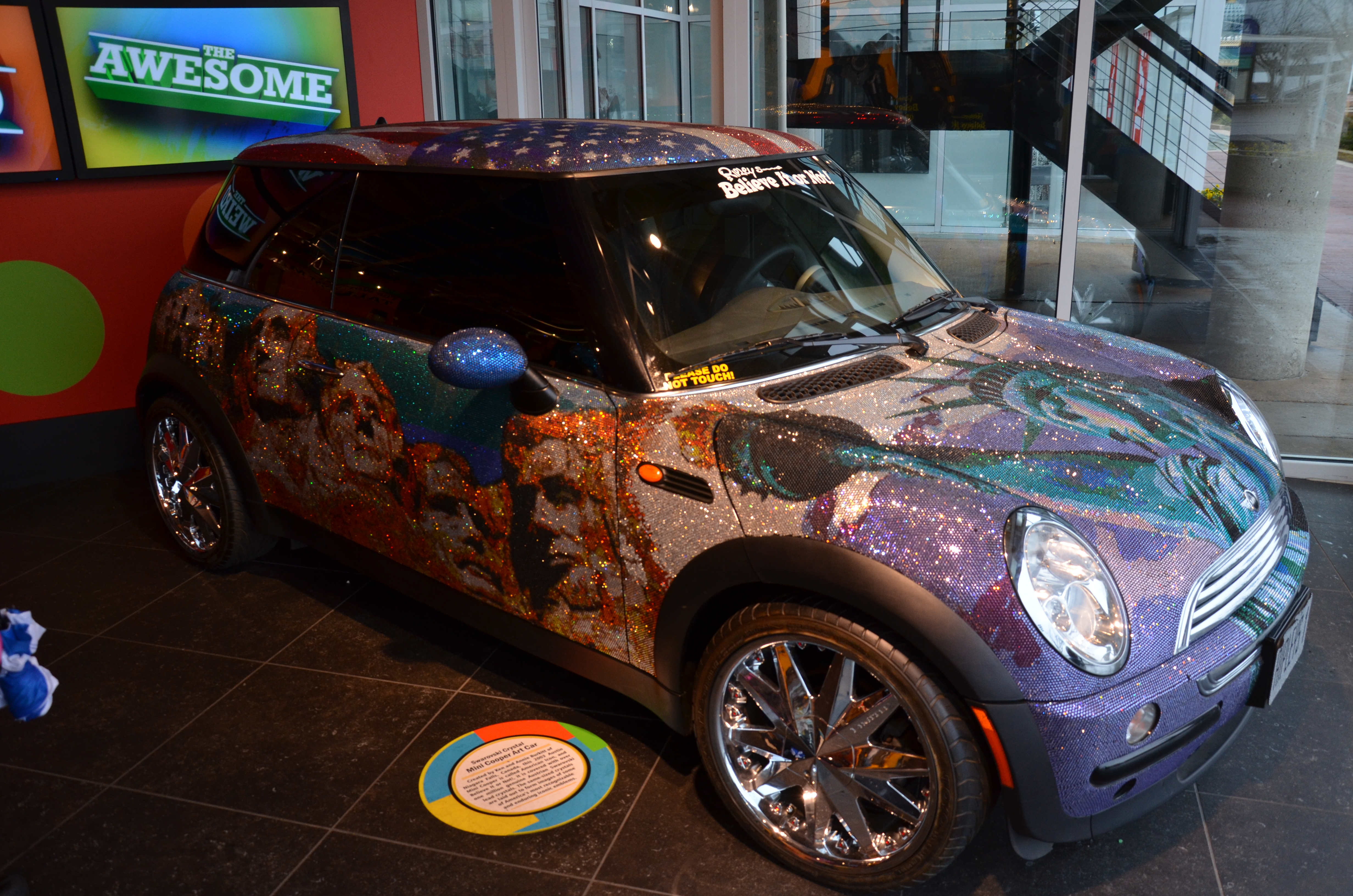 Swarovski Crystal Mini Cooper Art Car By Ken and Annie Burkitt