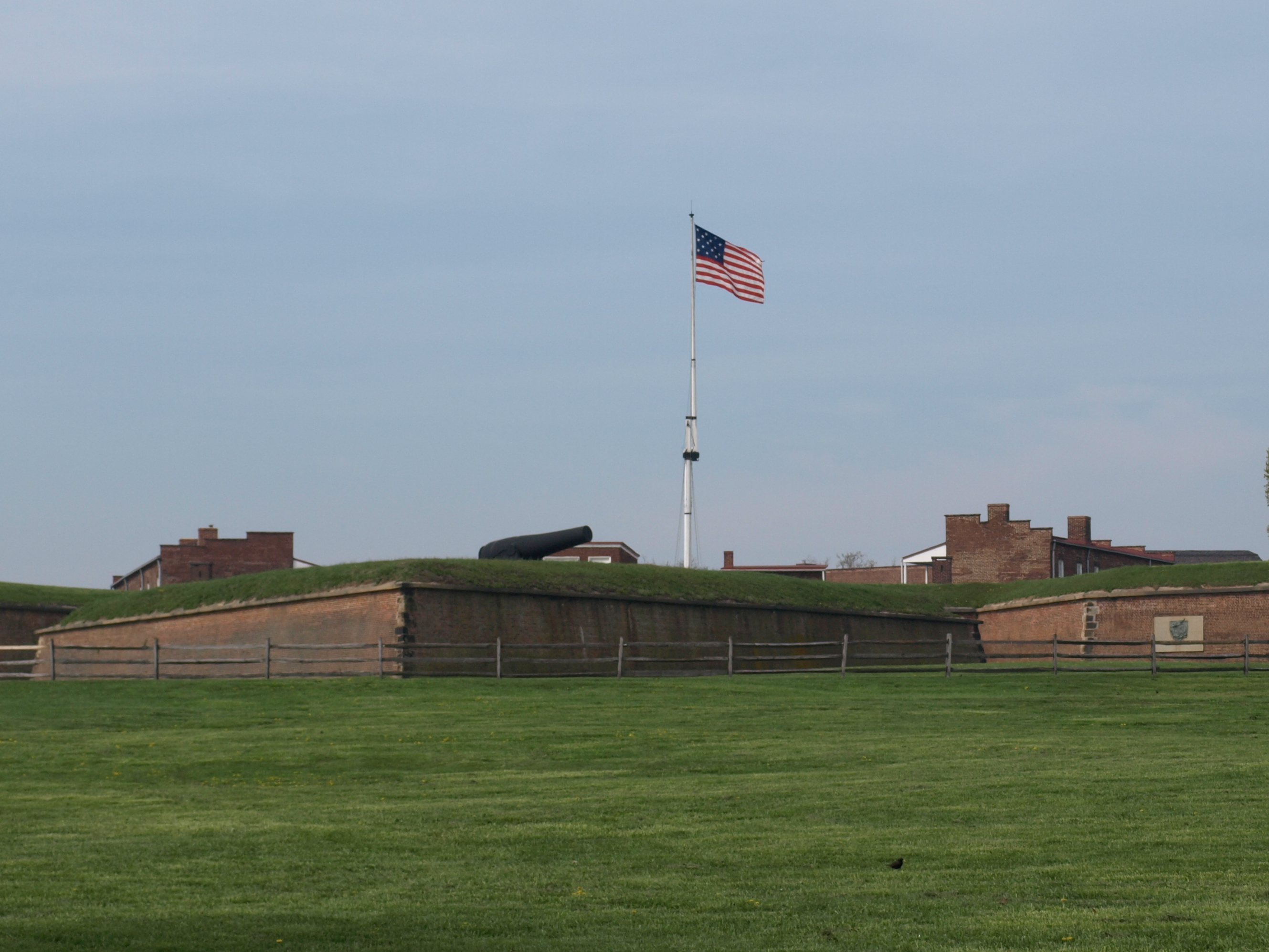 Stars and Stripes Above on of the Bastions