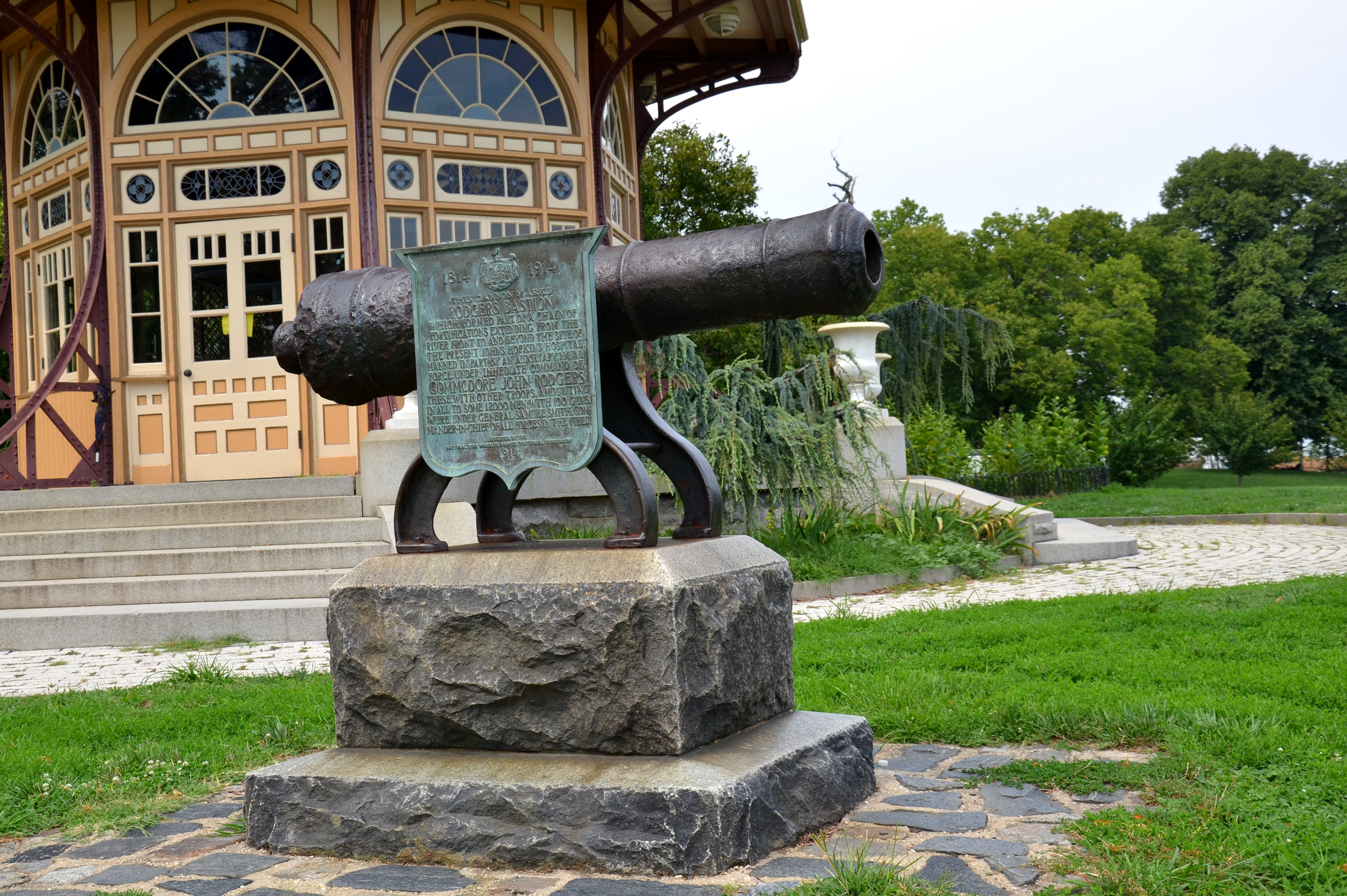 Cannon From Rodgers Bastion During the War of 1812