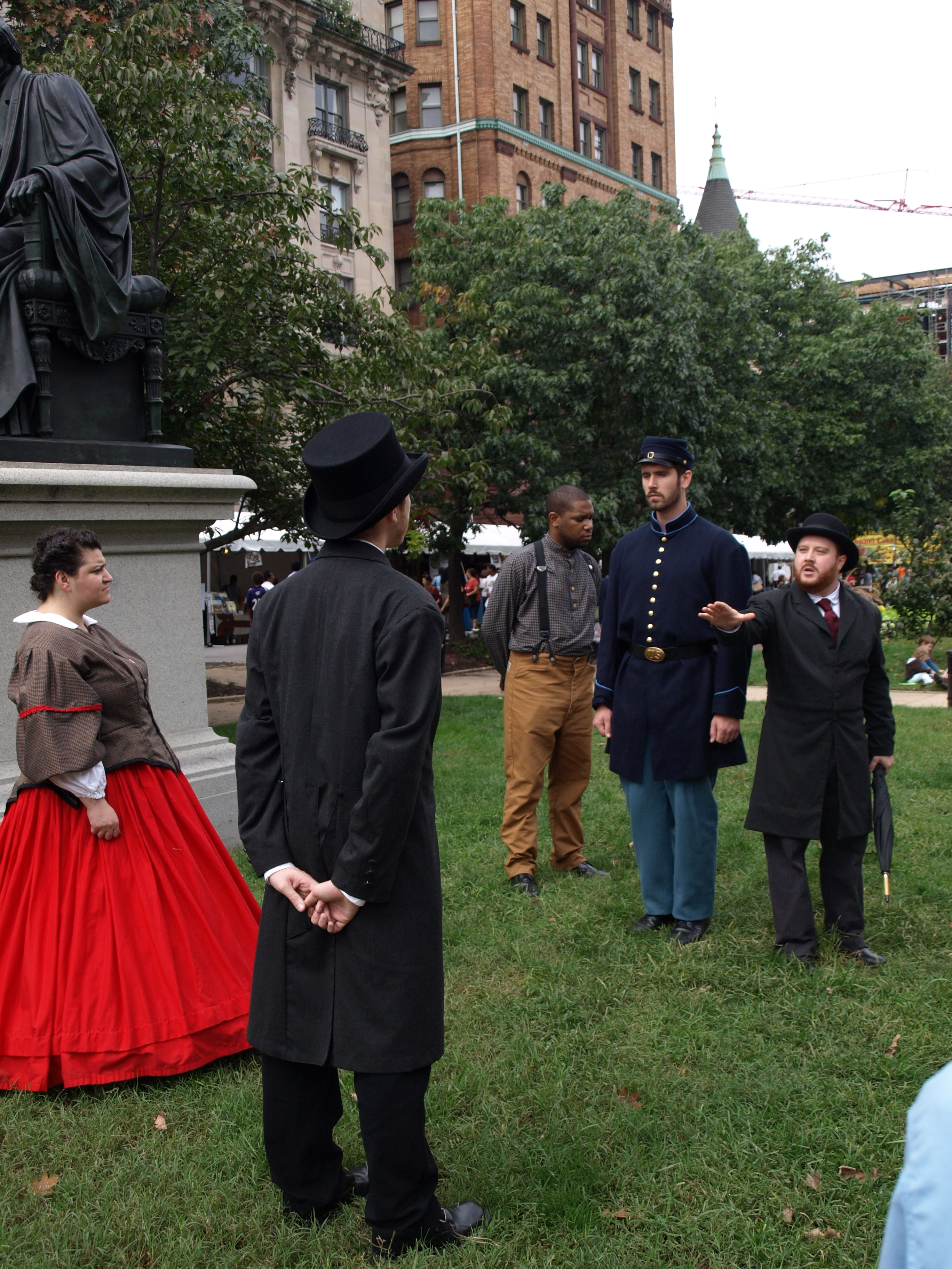 Interpretive Reenactment of the Pratt Street Riot of 1861